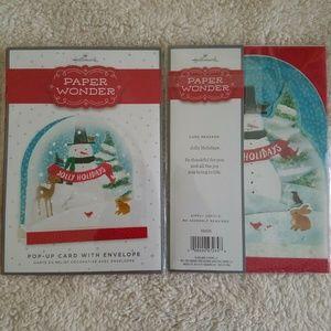 Hallmark Paper Wonder Pop Up Xmas Card 2 Scrapbook